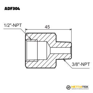 """ADF304 1/2"""" - 3/8"""" Adaptör"""