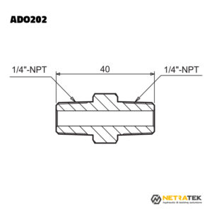 "ADO202 1/4"" 700 Bar Nipel"